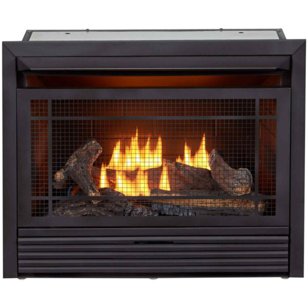 Duluth Forge Dual Fuel Ventless Gas Fireplace Insert 26000 BTU Remote Control