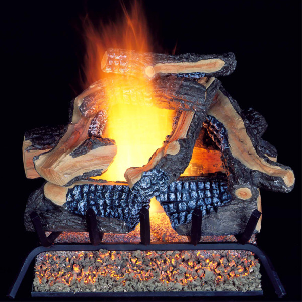 ProCom Vented Natural Gas Fireplace Log Set - 24 in. 55000 BTU Model WAN24LA