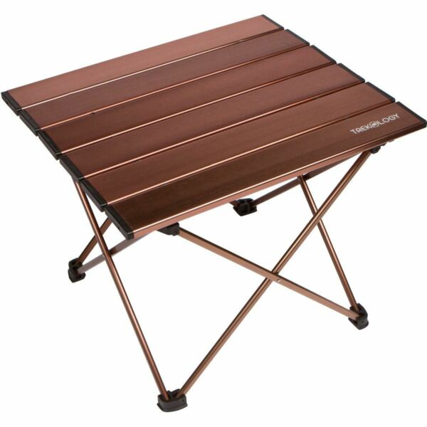 Trekology Portable Camp Backpacking Beach Table in a Bag with Aluminum Table Top