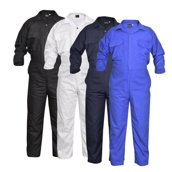 Men#x27;s Coverall Overalls Boiler Suit Coveralls Work Wear Mechanics H.Duty 200gsm GBP 16.99