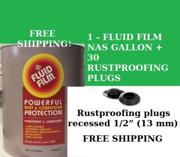 FLUID FILM NAS GALLON 30 RUST PROOFING PLUGS ONLY $43.89 FREE SHIPPING