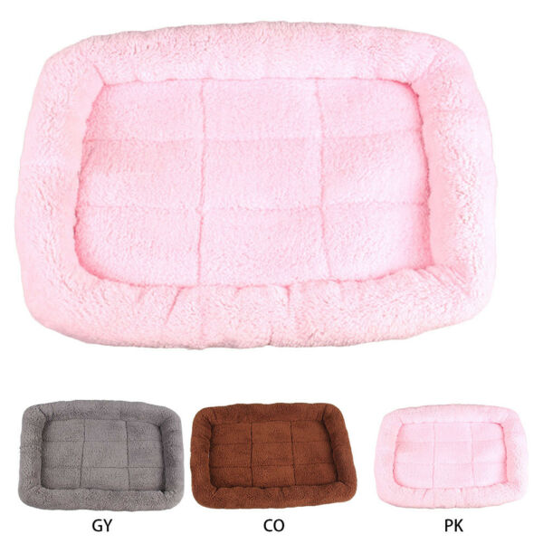 1PC Pet Bed Cushion Mat Pad Dog Cat Cage Kennel Crate Warm Cozy Soft House S-L