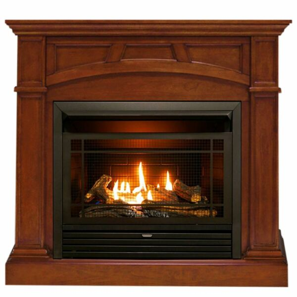 Duluth Forge Dual Fuel Ventless Gas Fireplace -26000BTU Heritage Cherry Finish