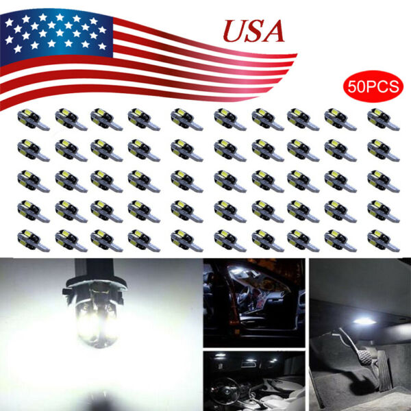 Canbus T10 194 168 W5W 5730 8 LED SMD White Car Side Wedge Light Lamp Bulb