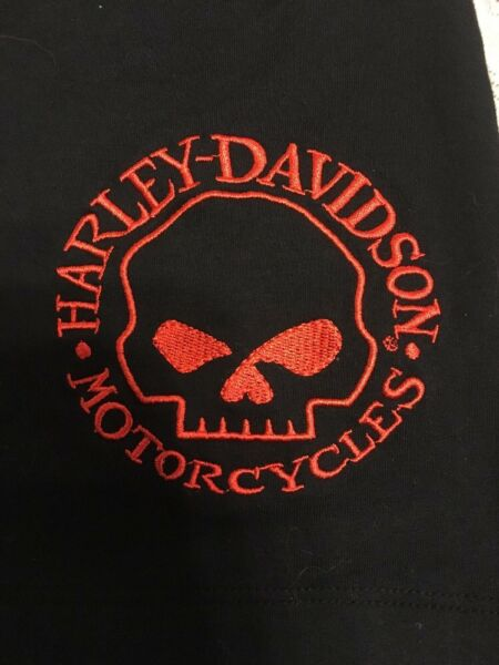 NWT HARLEY DAVIDSON Halter Top Tank Top Embroidered Willie G Skull On Front Larg
