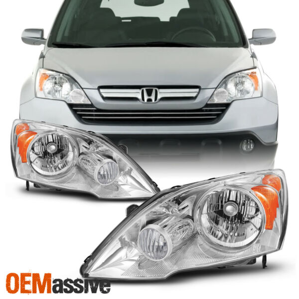 Fit 2007 2008 2009 2010 2011 Honda CRV CR V Left Right Headlights Lamps