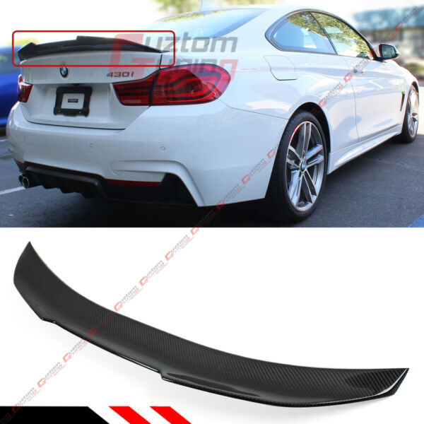 FOR 14-2020 BMW F32 4 SERIES 2DR PSM SYTLE HIGH KICK CARBON FIBER TRUNK SPOILER