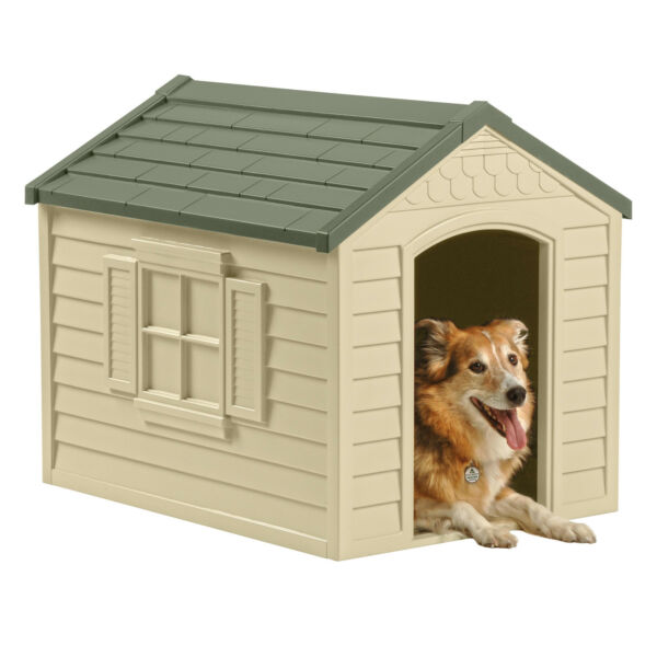 Suncast DH250 Deluxe Dog House Outdoor Pet Shelter Durable Home Cage $93.83