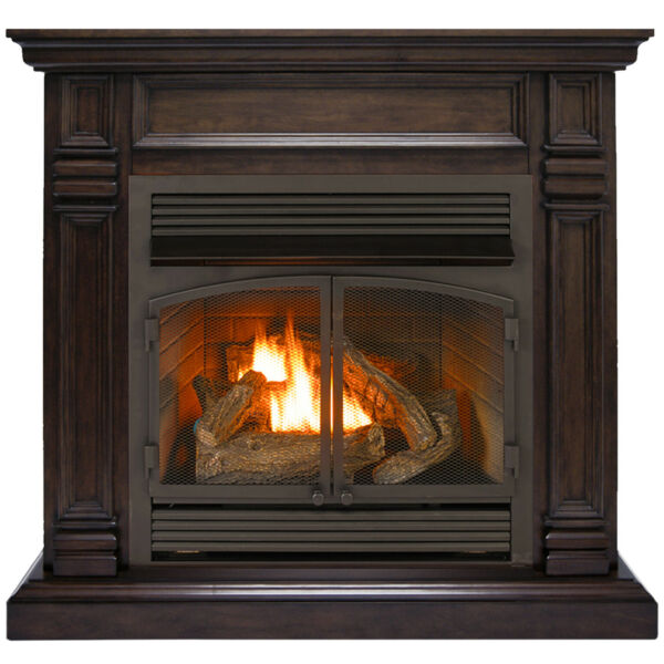 Duluth Forge Dual Fuel Ventless Fireplace - 32000 BTU Chocolate Finish