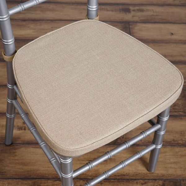 Natural Burlap Cushion for Chiavari Chairs Wedding Party Reception WHOLESALE