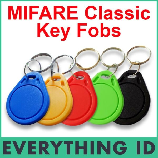 MIFARE CLASSIC 1K S50 HIGH FREQUENCY ISO14443A BLACK BLUE CHIP KEY TAG CARD FOBS