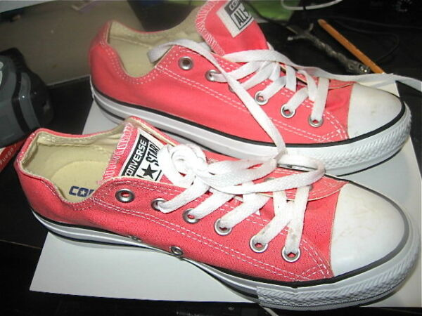 Pink Low Cut Converse ALL STAR Pink Tennis Shoes Size Mens 8 Womens 6 Sneakers