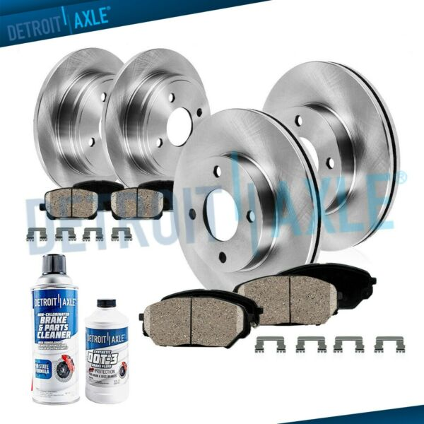 Front & Rear Brake Rotor + Ceramic Pad for 1998-2000 2001 2002 Honda Accord 2.3L