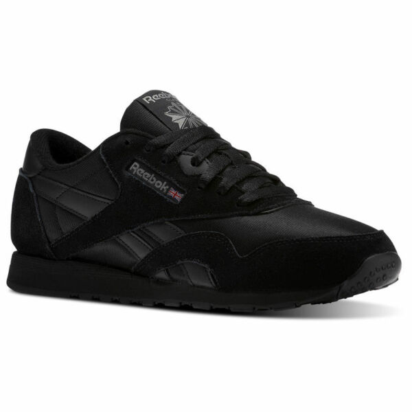 Reebok Classic Nylon Black/Black/Carbon BD5993 Casual Comfort Sneakers for MEN
