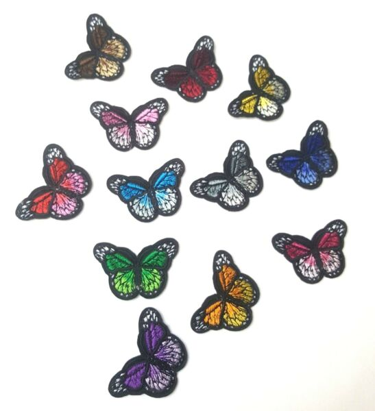 Monarch Butterfly Mini Small Embroidered Patch Iron-OnSew-On Applique Motif