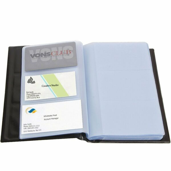 Business Card Holder Holds 300 Cards PU Leather Business Card Case For Men Women