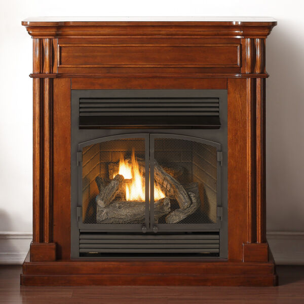 Duluth Forge Dual Fuel Ventless Gas Fireplace - 32000 BTU Autumn Spice Finish