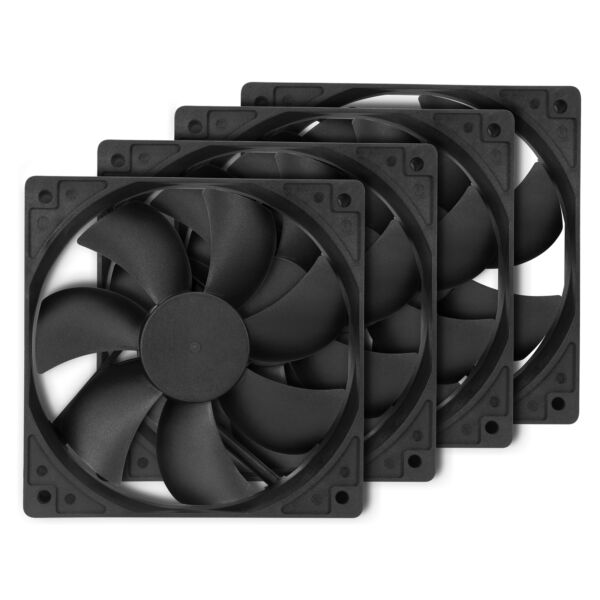 Rosewill 120mm Computer Case Cooling Fans (Pack of 4) ROCF-13001 - 38.2 CFM