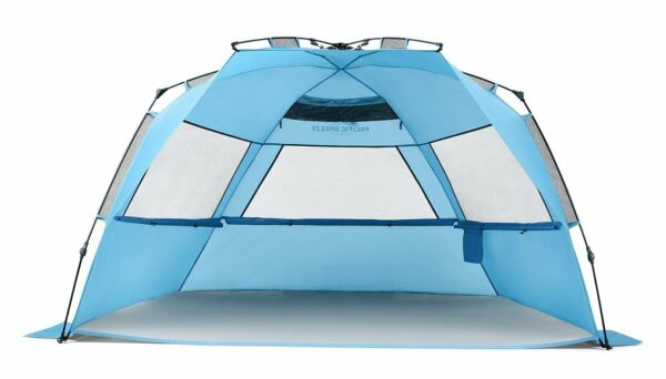 Pacific Breeze Easy Setup Beach Tent Deluxe XL - New