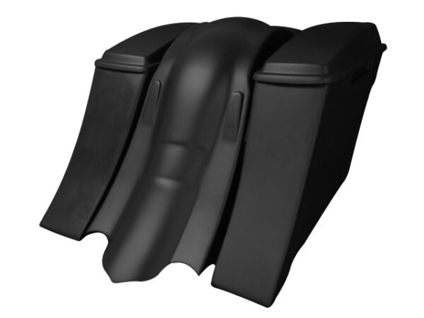 Harley Davidson 6quot; Extended Saddlebags Out amp; Down Bags Lids amp; Overlay Fender $799.00
