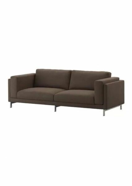 Ikea Nockeby 2 love seat  Slipcover Cover Teno Brown 102.804.44