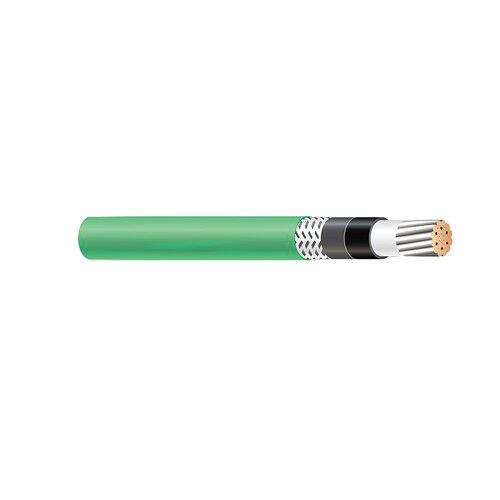 1000' 56963501 500 KCMIL 1C Stranded TC Green Cotton Braid TelcoFlex III Cable