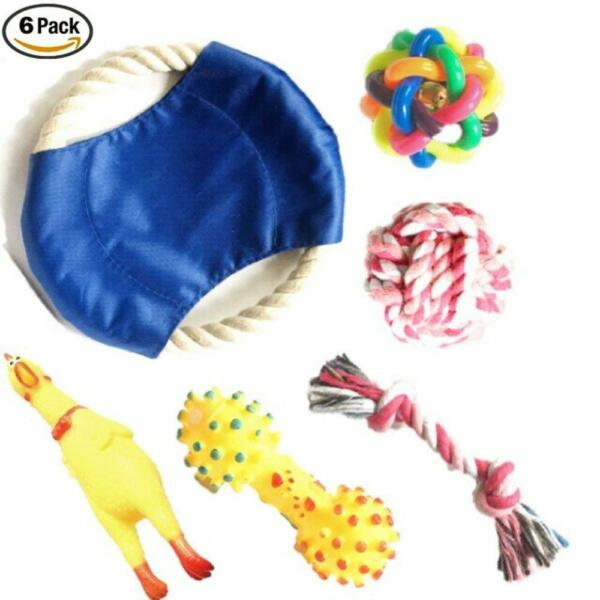 Chew and Squeaky Dog Toys for Puppy Doggie and Small Medium Dog. 6 pcs inside $10.98