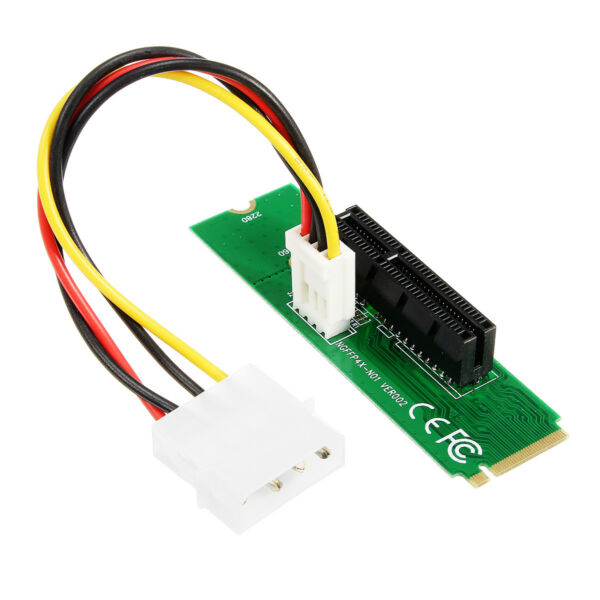 PCI-E 1X4X Card to NGFF M.2 M Male Adapter Key PCIE Slot Board With Converter