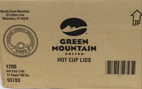 Green Mountain 93783 Coffee Roasters Domed Lids For Eco Friendly Hot Cups 1200ct