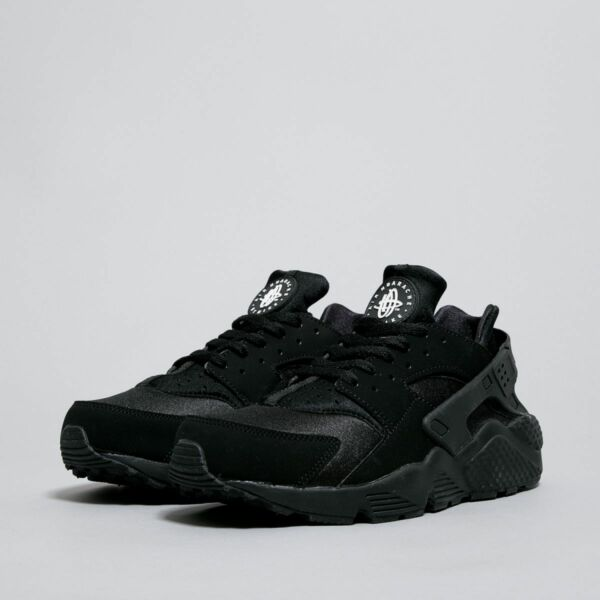 NIKE AIR HUARACHE MENS BLACK WHITE 318429-003 NEW RETRO