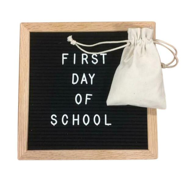 SALE Felt Letter Board 10x10 Inches. Include bag, 680 White Plastic Letters