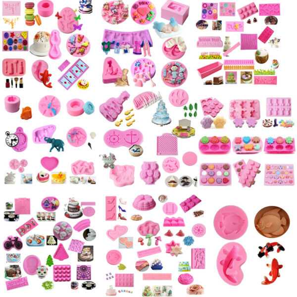 99 Kinds Silicone Mold Cake Chocolate Sugarcraft Baking Mould Decoration Tools