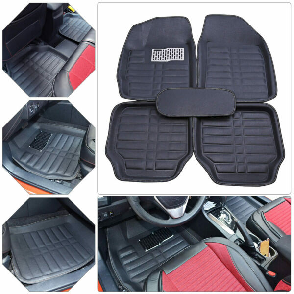 5pc Universal Car Auto Floor Mats FloorLiner Front&Rear Carpet All Weather Mat