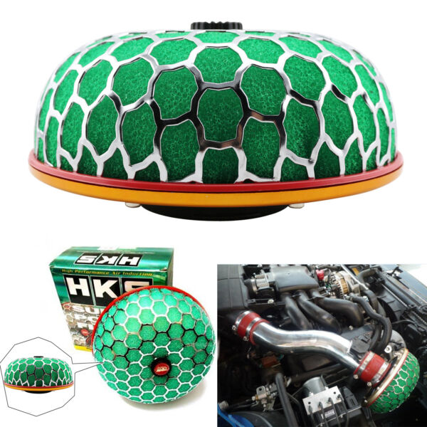 HKS 80mm 3'' Super Power Air Filter JDM Flow Intake Reloaded Cleaner Universal