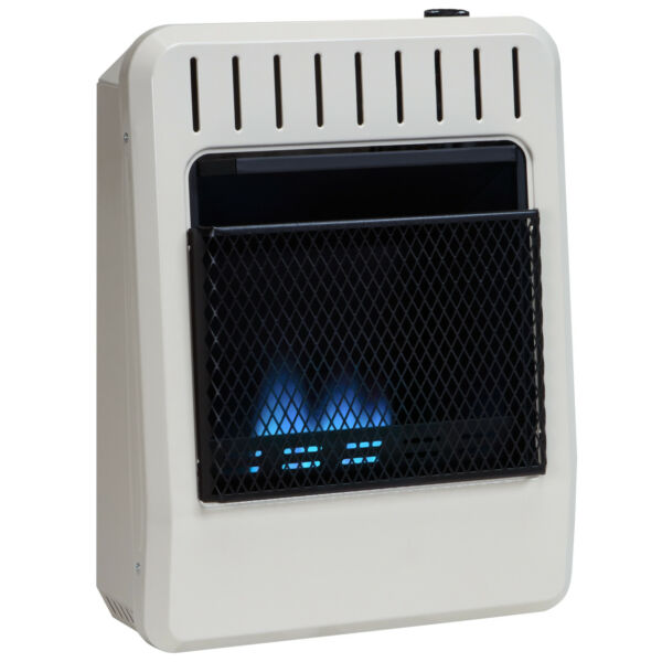 Avenger 10K BTU Dual Fuel Vent Free Blue Flame Gas Heater With Base  Ventless