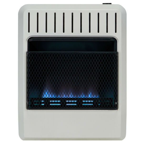 Avenger Dual Fuel Ventless Blue Flame Gas  Heater With Base  Vent Free 20K  BTU