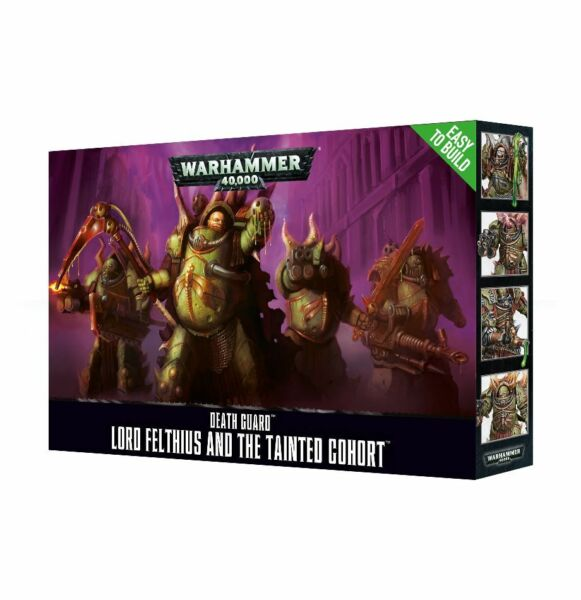 Chaos Death Guard Lord Felthius and the Tainted Cohort Warhammer 40K Flipside