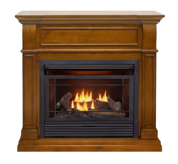 Duluth Forge Dual Fuel Ventless Gas Fireplace -26000BTU Apple Spice Finish