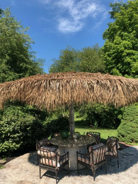 1Thatch Panel Replacement Umbrella Cover Patio Furniture Tiki Bar Fence Roof 4x4 $31.99
