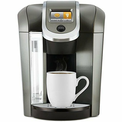 Coffee Maker Single Serve Cup Pod with 12oz Brew Size Strength Control Platinum