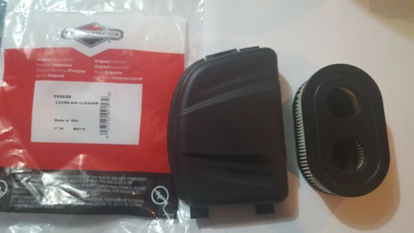 Briggs and Stratton OEM  Air filter cover  &  Air Filter Lawn Mowers  595658