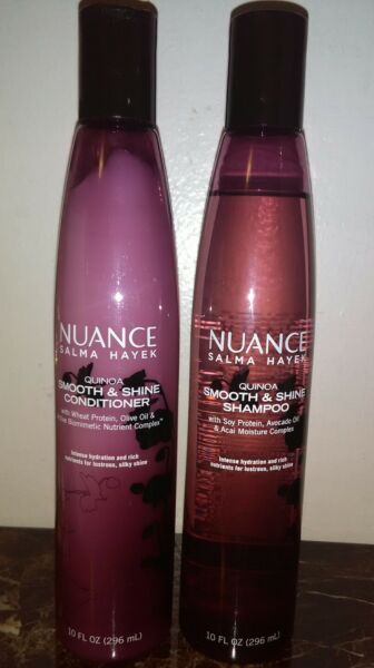 NUANCE QUINOA SMOOTH & SHINE SHAMPOO AND CONDITIONER 10 oz EACH by SALMA HAYEK