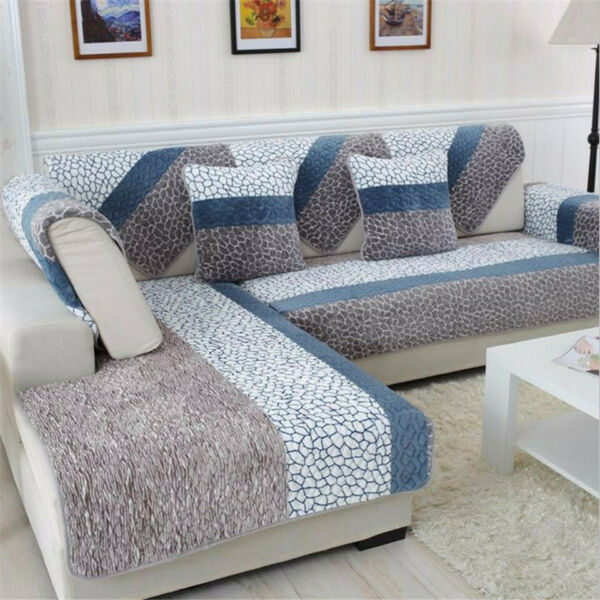 Quilted Cover Slipcovers Sofa Stretch Furniture Covers for Living Room Decor $18.95