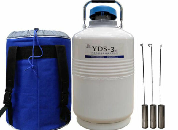 CE YDS-3 3L Cryogenic Liquid Nitrogen Container LN2 Tank Dewar with Straps s