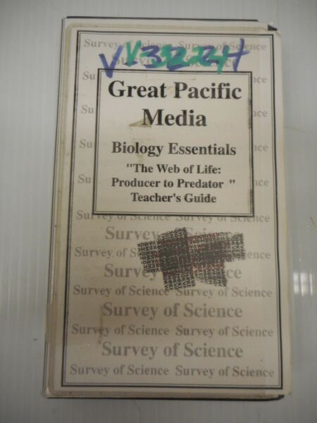Great Pacific Media Biology Essentials The Web Of Life: Producer To Predator VHS