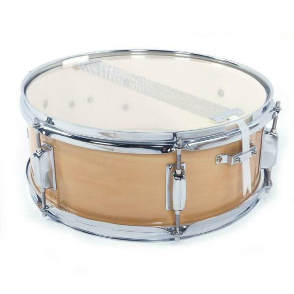 Snare Drum 14quot; x 5.5quot; Poplar Wood amp; Metal Shell Percussion Wood Color $39.79