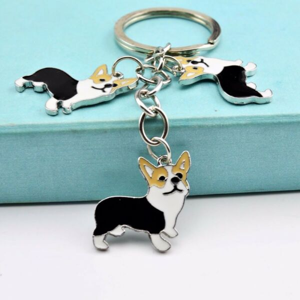 NEW PET Key Chain Corgi Dog Figure Dogs Key Ring Shape Lovely Keychain Keyring00 $3.30