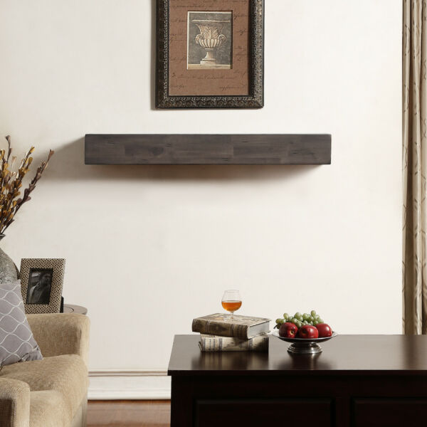 Duluth Forge 48-Inch Fireplace Shelf Mantel With Corbels - Antique Brown Finish