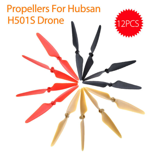 12Pcs Plastic Prop Blades Propellers CW / CCW for Hubsan H501S Drone Replacement
