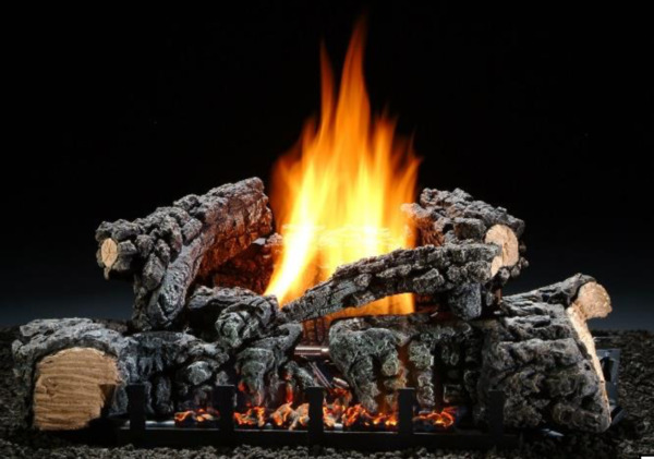 Vent Free Gas Log Hargrove 22quot; Highland Glow with Real Fyre Remote Control